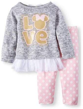 Minnie Baby Set Leggings und Langarmshirt