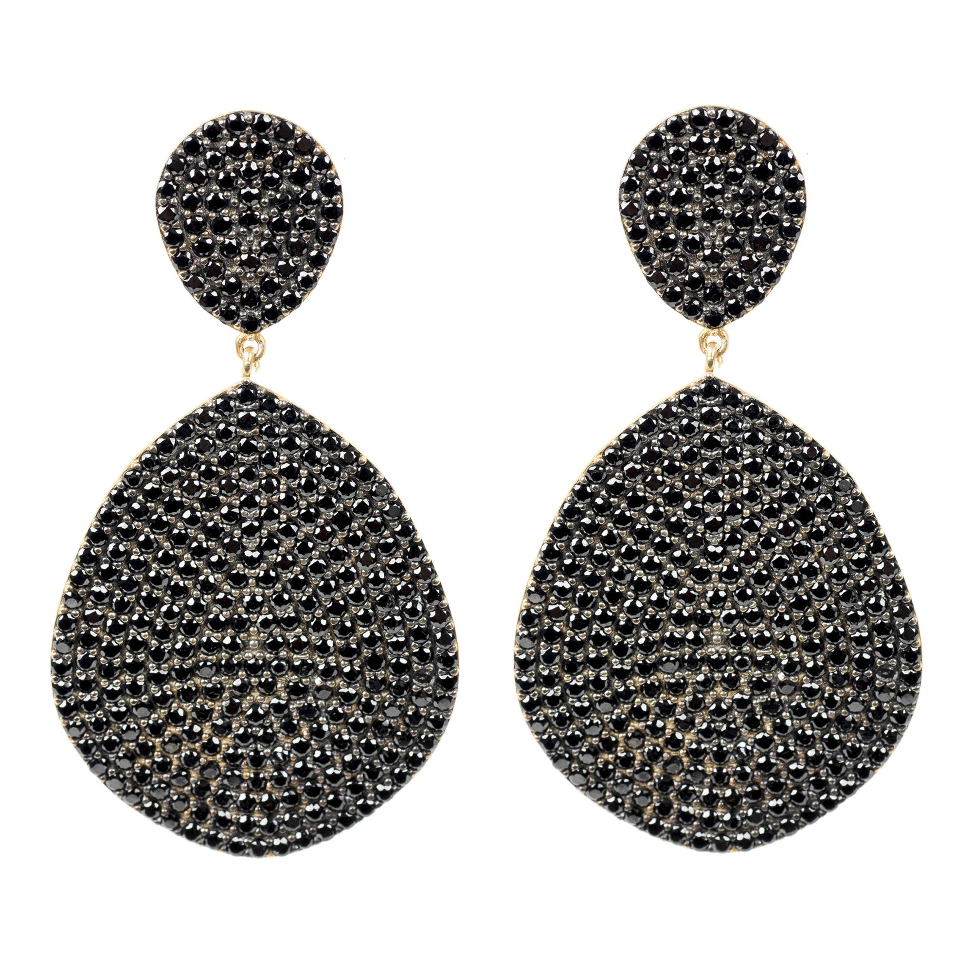 Latelita London Monaco Earring Black Spinel 4rPjtF9D