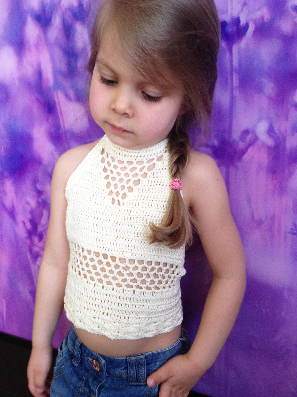 Festival toddler top/ Crocheted Toddler Crop Top/ Girls ...