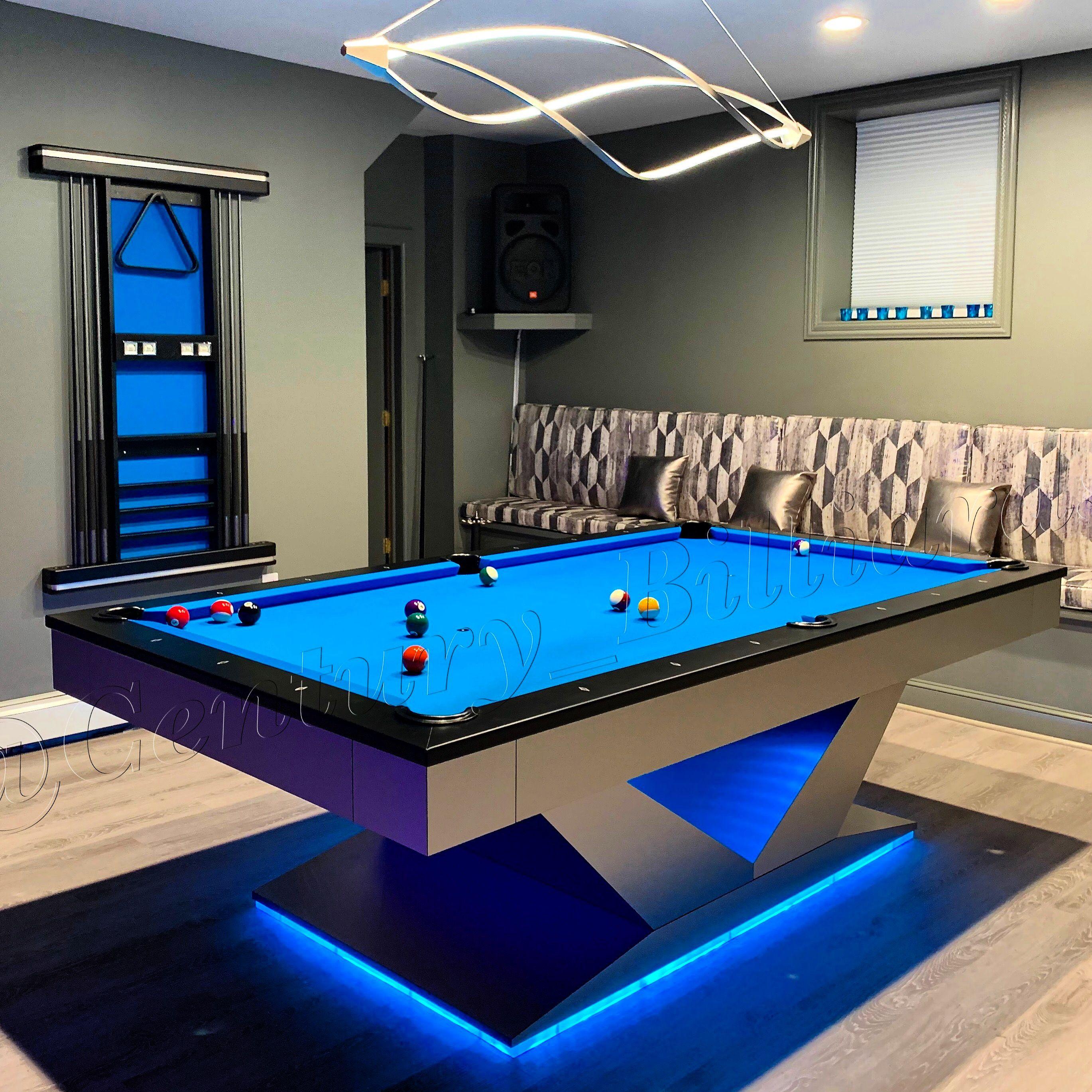 Modern Led Pool Table Pool Table Room Modern Pool Table Modern Pool Table Room