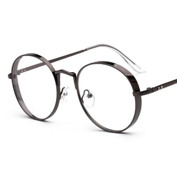 0e13c1427410 2018 New Arrival Metal Frame Eyewear Fashion Big Round Thick Alloy Clear  Lens Pink Glasses Frames gafas Spectacles Oculos A1