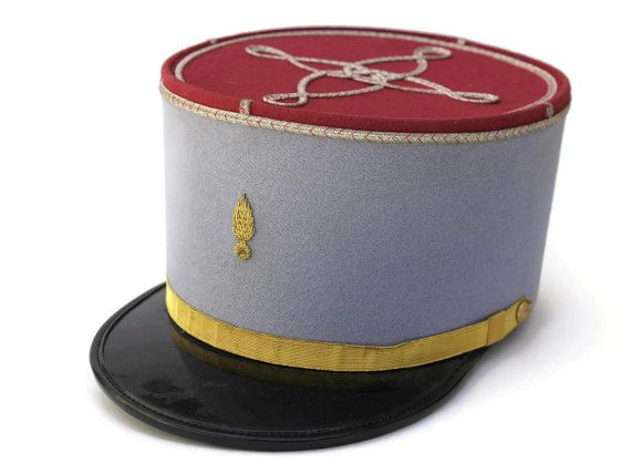 French Military Hussards Kepi French Army Uniform Cap French Blue Military Hat Officers Hat Army Uniform French Army Military Hat