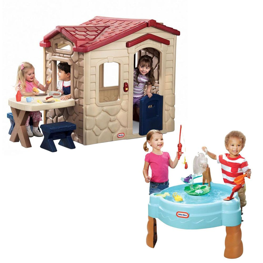 Casa Picnic Y Mesa Splash Para Pescar Little Tikes Playroom