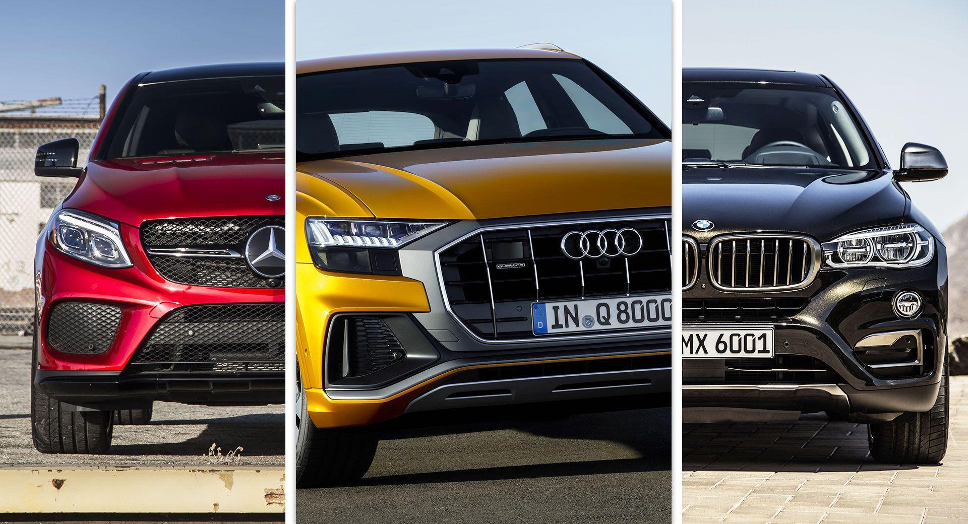 Audi Q8 Vs Bmw X6 Vs Mercedes Benz Gle Coupe What S Your Pick