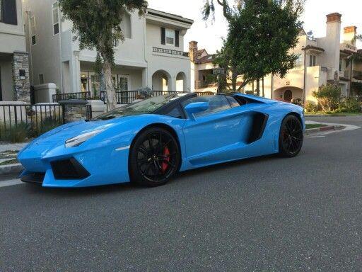 Lamborghini Aventador Roadster In Blue Cepheus