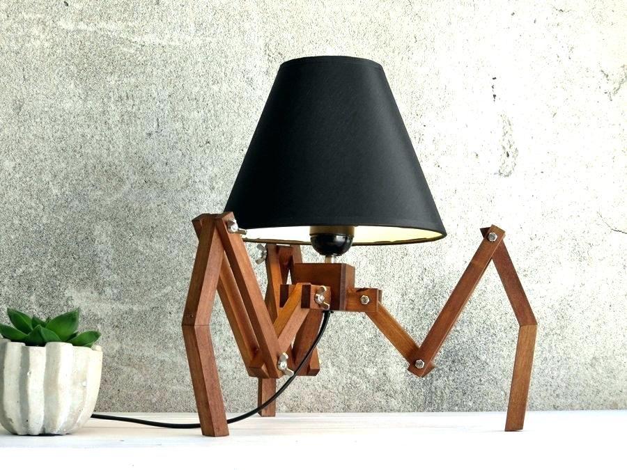Stativ Schreibtischlampe Dekoration Ideen Schreibtischlampe Holzleuchte Lampe