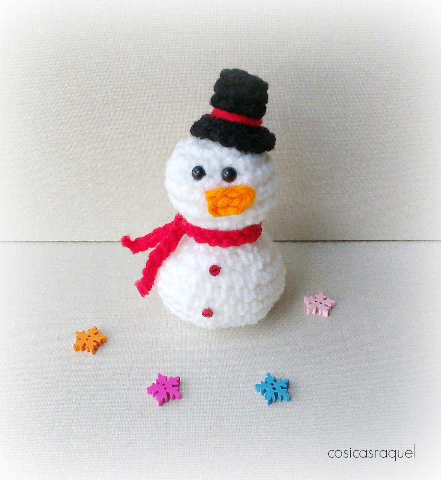 Muñeco de Nieve de Trapillo | patrones gratis español | Pinterest ...