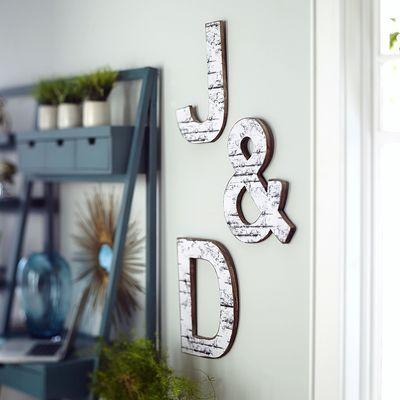 Weathered Letter Wall Decor