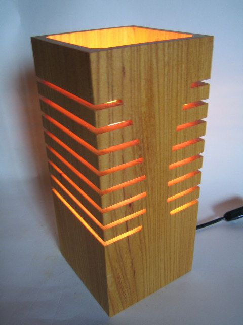 "Free Shipping! Lovely  Lamp made from Japanese Timber ""Autumn"""