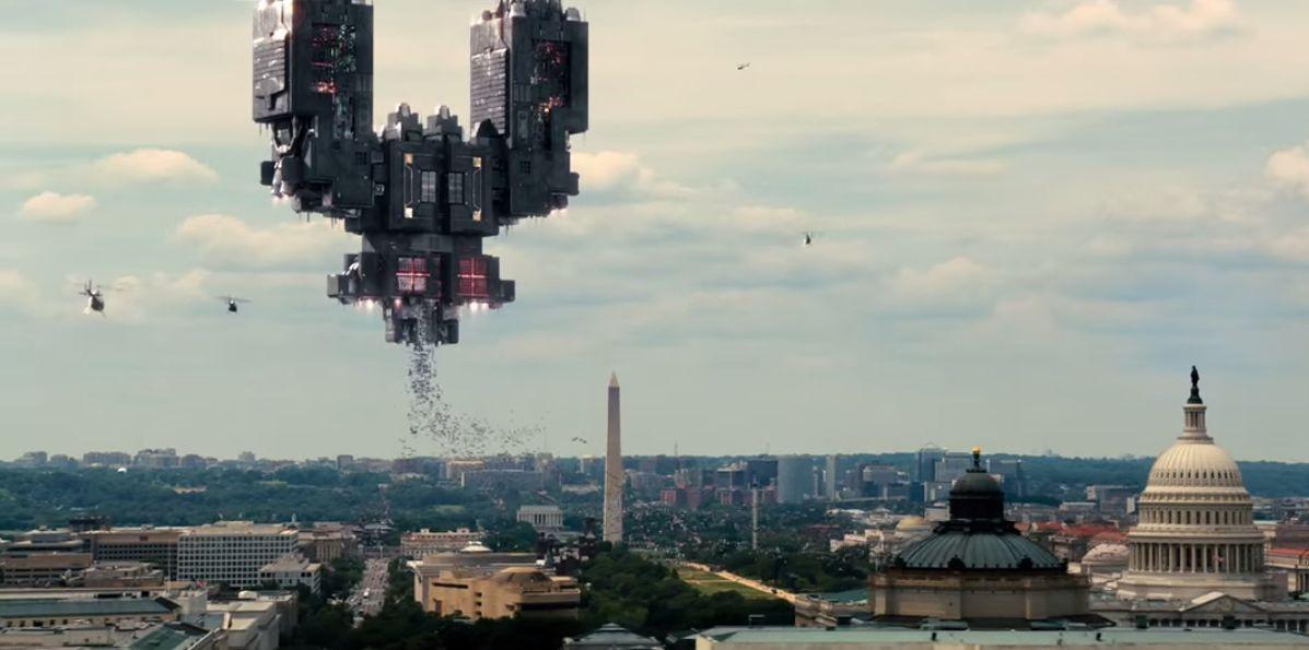 Is pixels the live action futurama movie paris skyline