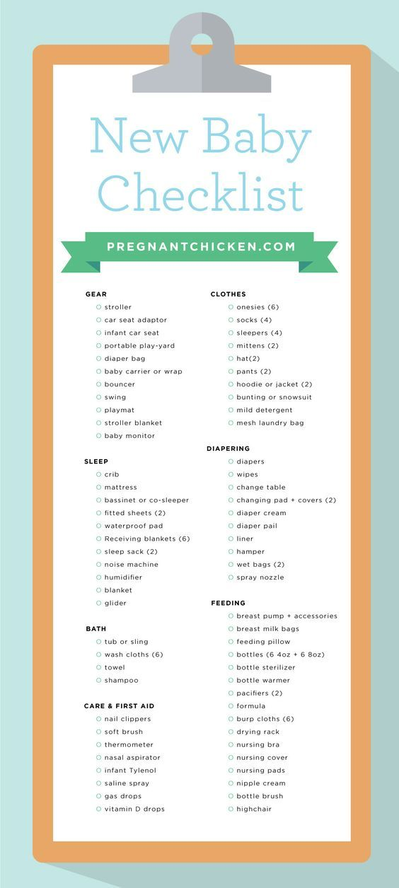 New Baby Checklist  What To Get When Expecting  Baby Checklist