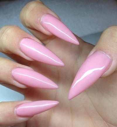 Example Of What I Don T Want Pink Stiletto Nails Long Stiletto