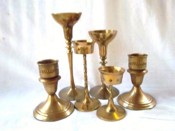 Vintage Brass Candle Holder Collection / by dogwoodflowerdesigns