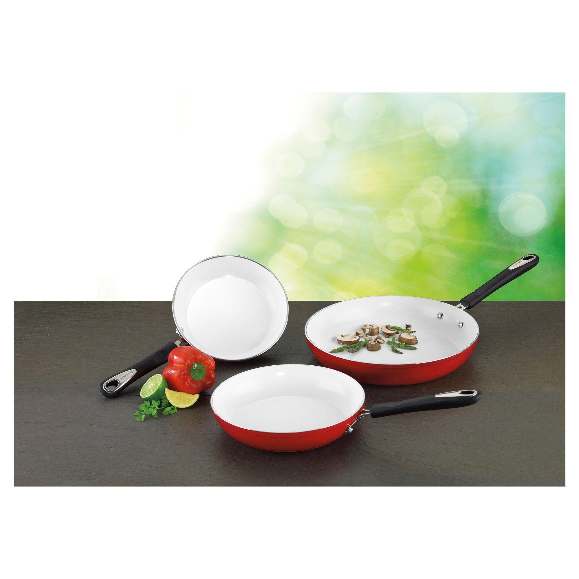 Cuisinart Elements Nonstick 8 10 12inch Skillet Set Red 5922 81012r Skillet Sets Cuisinart Nonstick