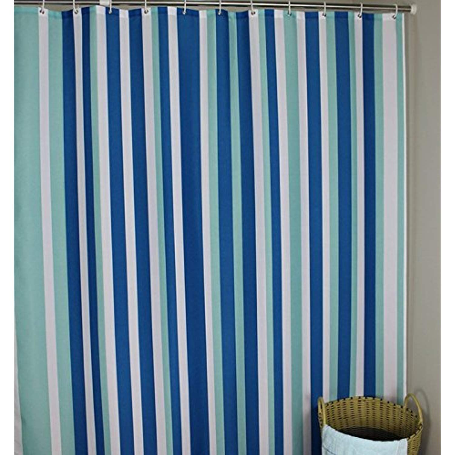 long shower curtain welwo 72 x 75
