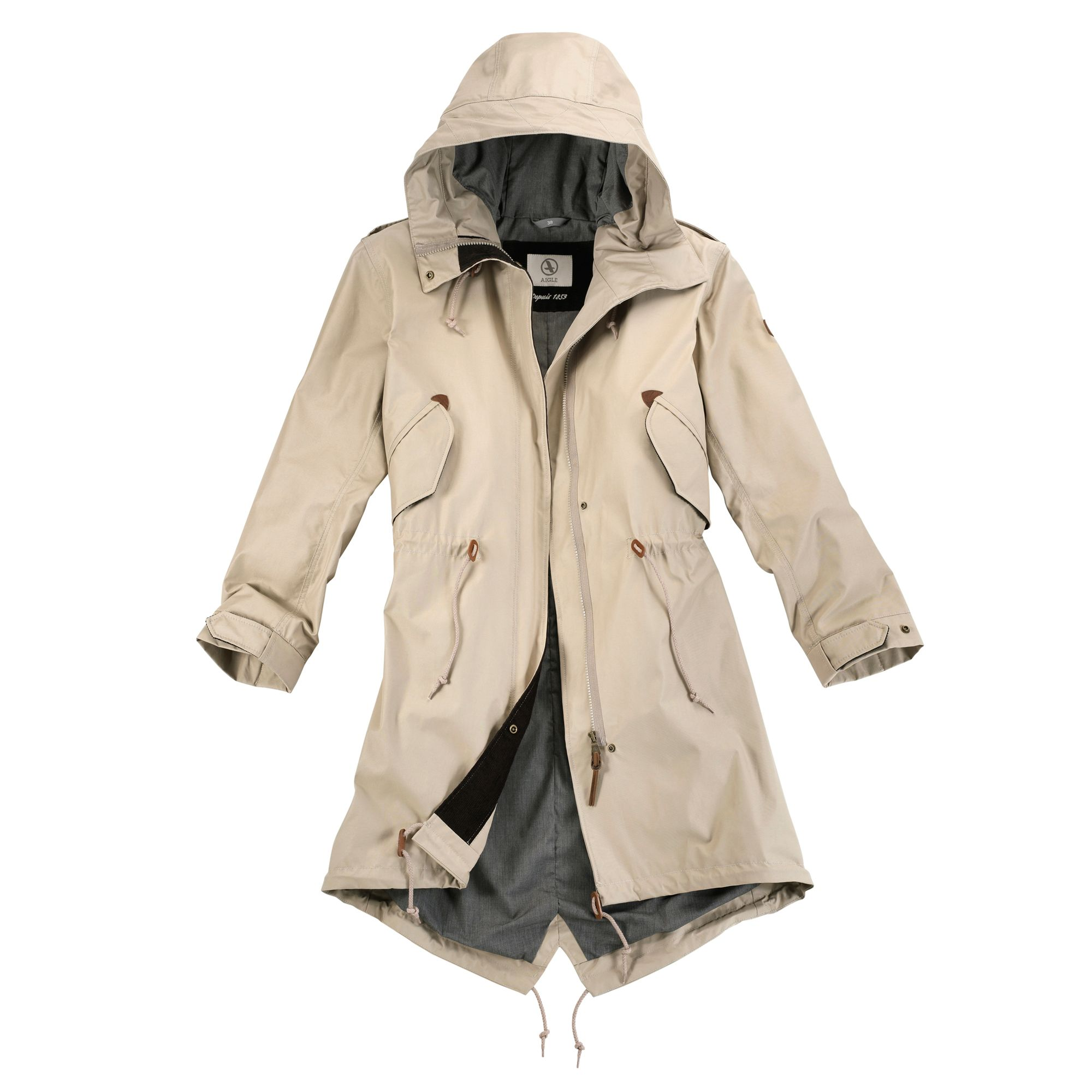 87a6a493ed5 Aigle Ladies Brokfield Parka - Sahara  online with webury.com Ladies Coats