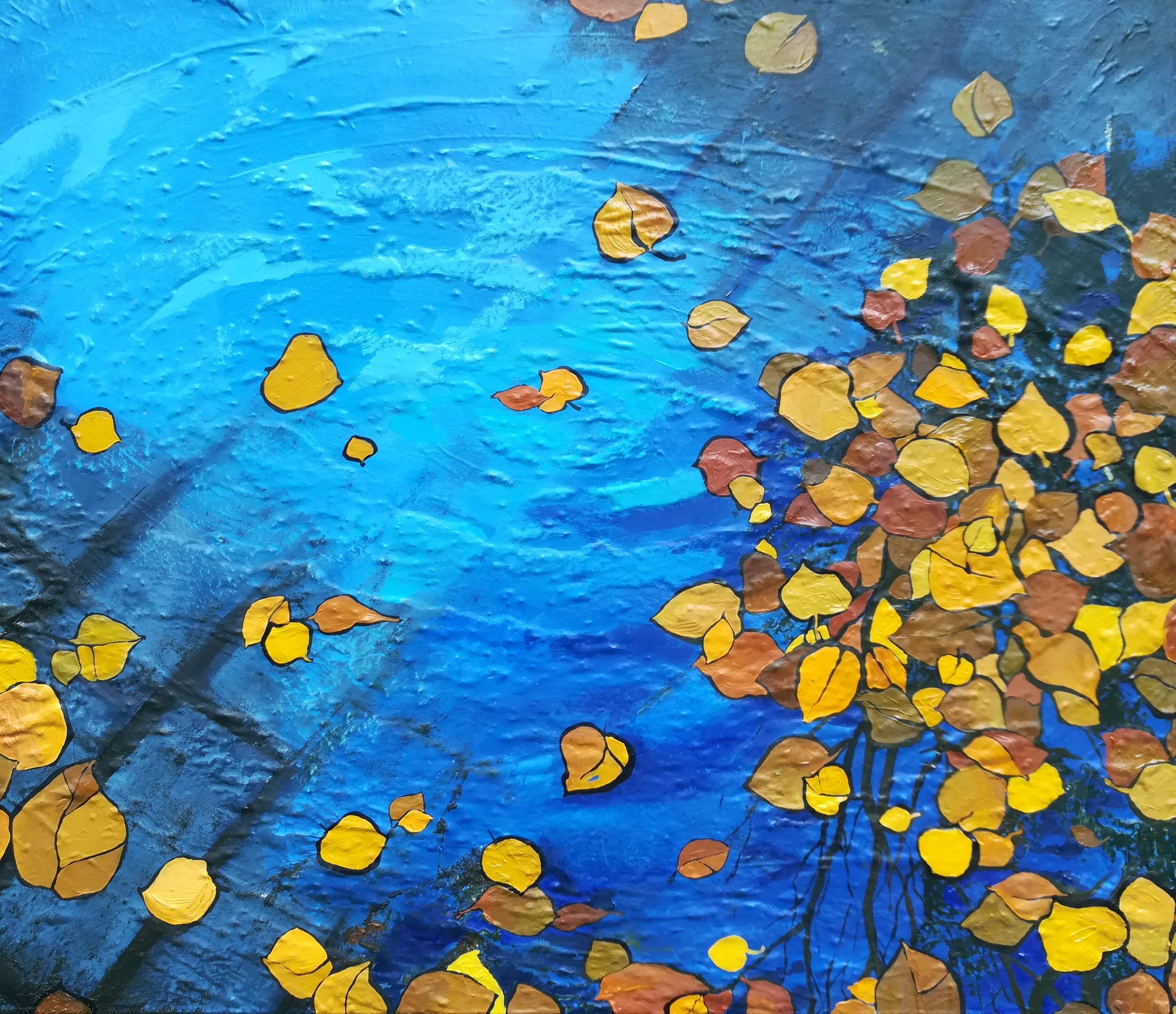 В городе осень Аукцион на BeMyPaint Краска, Картины