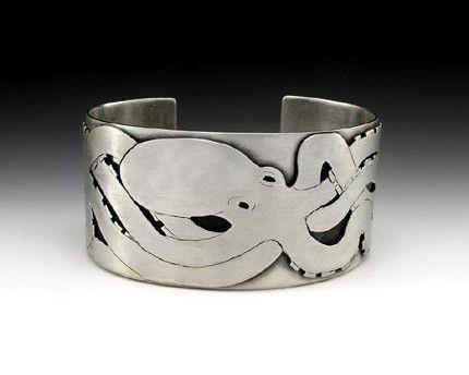 Octopus cuff bracelet.