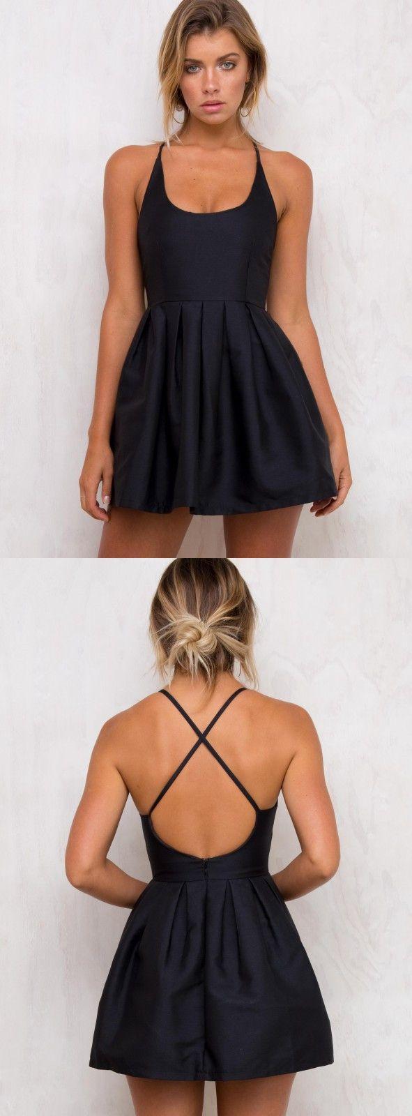 Little black dress short homecoming dress black short homecoming