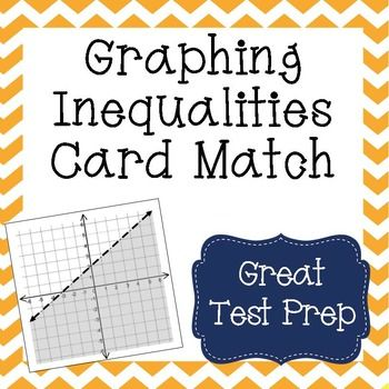 Graphing Linear Inequalities Card Match Activity Standard Form