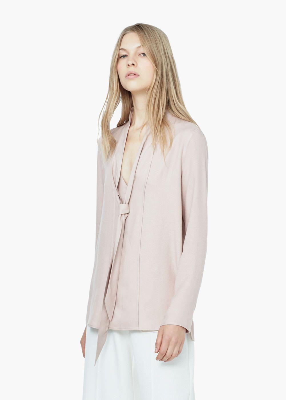 8b4139ef0 30€ Blusa lazo cuello - Camisas de Mujer
