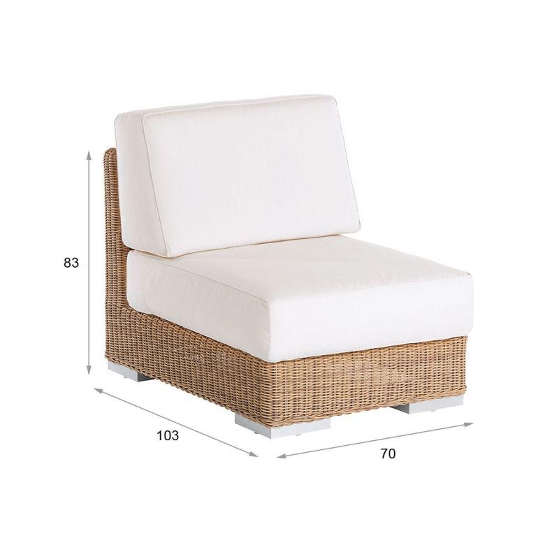 Mittelmodul Golf • Terrassenmöbel, Gartenmöbel, Loungemöbel und ...