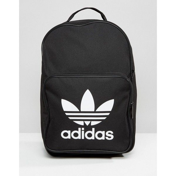 adidas Originals Trefoil Logo Backpack In Black ( 28) ❤ liked on Polyvore  featuring bags 94d64b153ff18