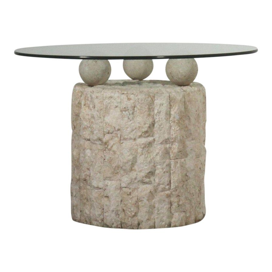 Post Modern Round Mactan Stone Side Table Side Table Modern Round Table [ 897 x 897 Pixel ]