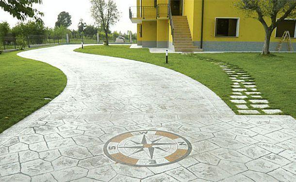 Pavimenti In Cemento Stampato : Pavimentazione in cemento stampato cortili nel sidewalk