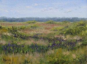 "Paynes Prairie Pickerel Weed by Linda Apriletti Oil ~ 6"" x 8"""