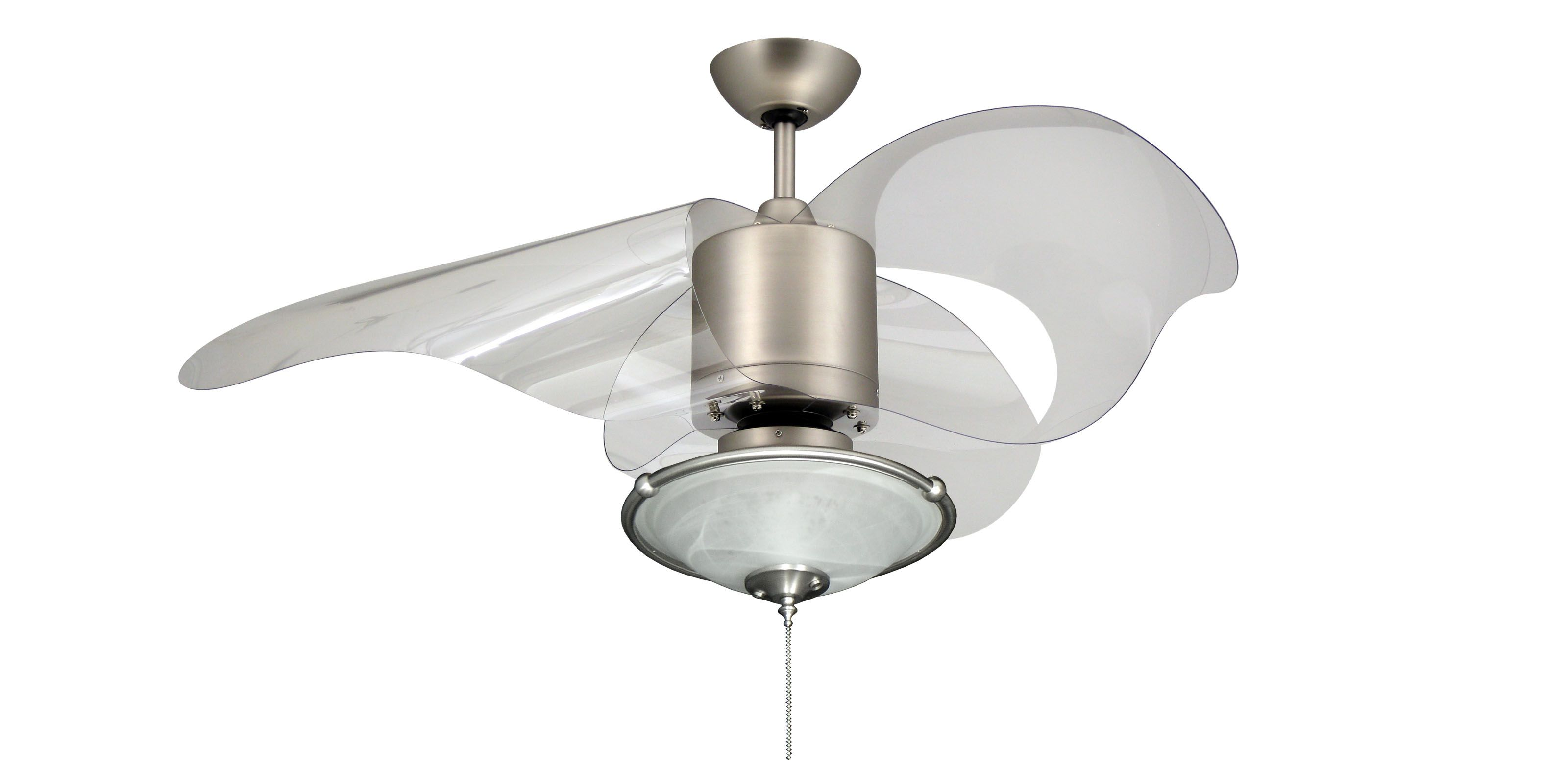 The L A 44in ceiling fan in Satin Steel and 173 Light