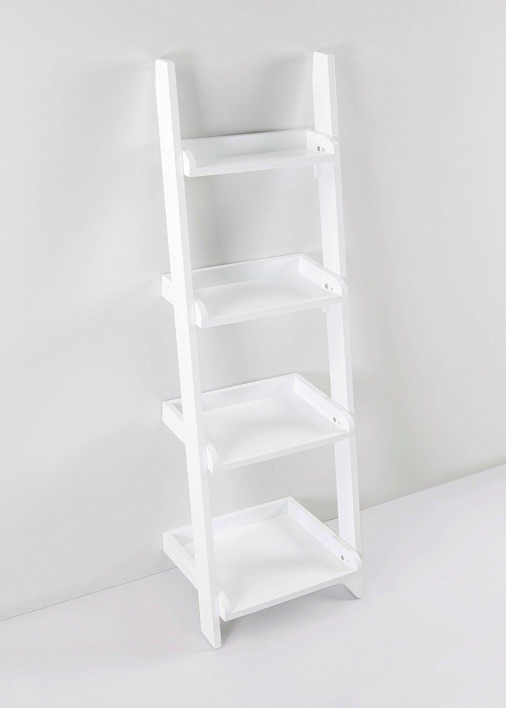 4 Shelf Storage Ladder Unit 129cm X 41cm X 33cm New