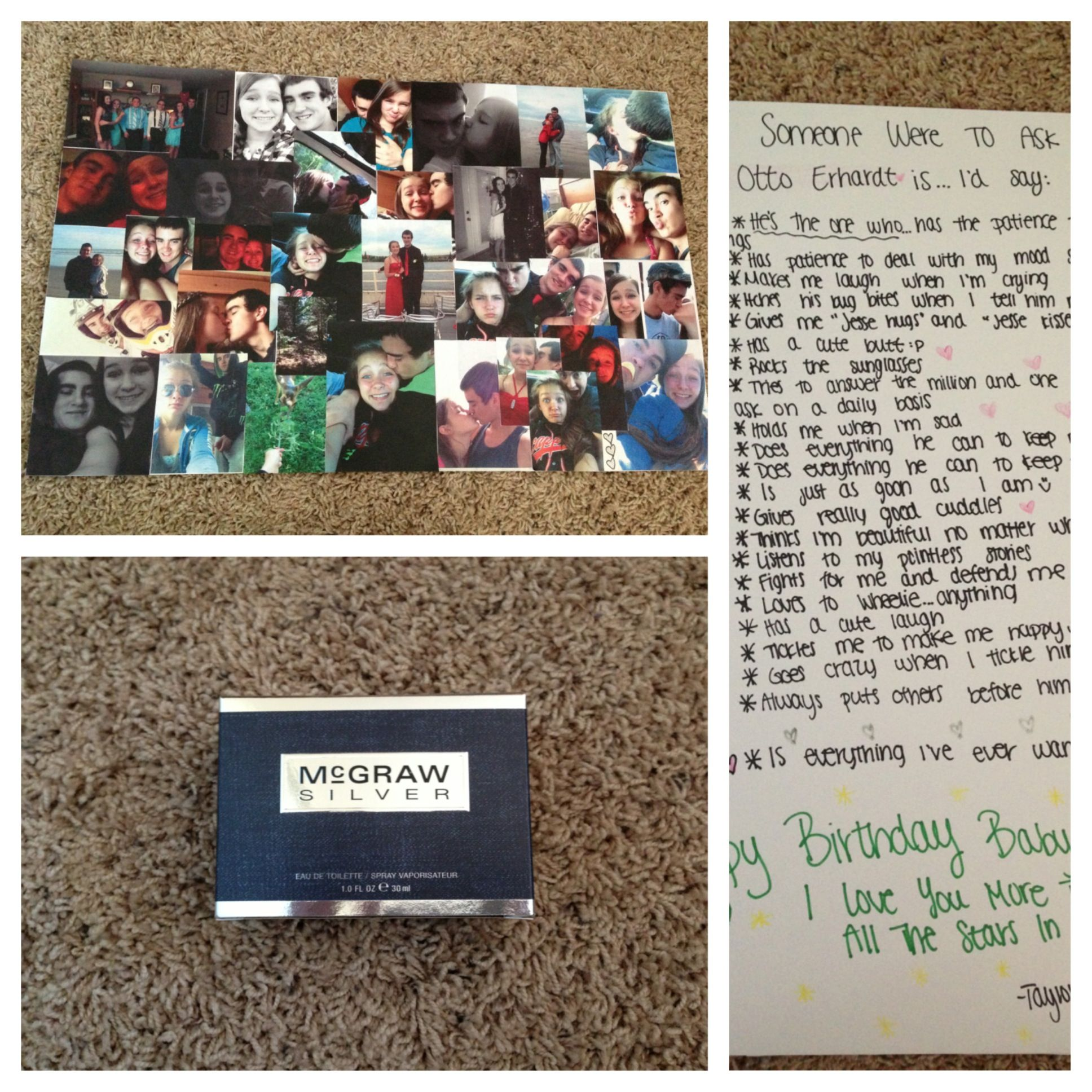 Boyfriend/girlfriend Birthday Present Idea! Make A Collage Of All Your Pictures Together, A List