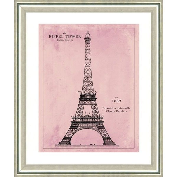Vintage Print Gallery Eiffel Tower Pink Patent Print 22 x26 By (1.675 NOK) ❤ liked on Polyvore featuring home, home decor, wall art, art, backgrounds, decor, fillers, quotes, borders and phrase