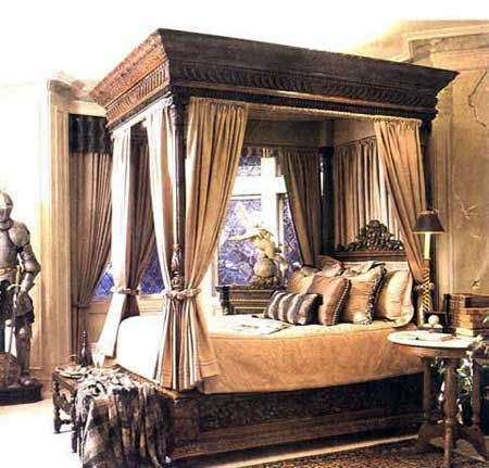 Pin By Decoration De La Maison On Medieval Canopy Bed Curtains Curtain Designs Bed Curtains