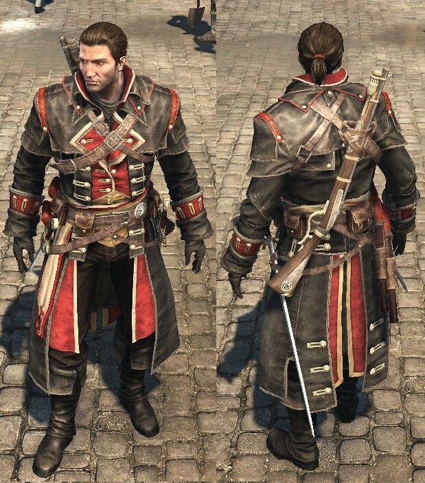 Assassin S Creed Rouge Templar Outfit Assassins Creed Assassins Creed Rogue Assassins Creed Artwork