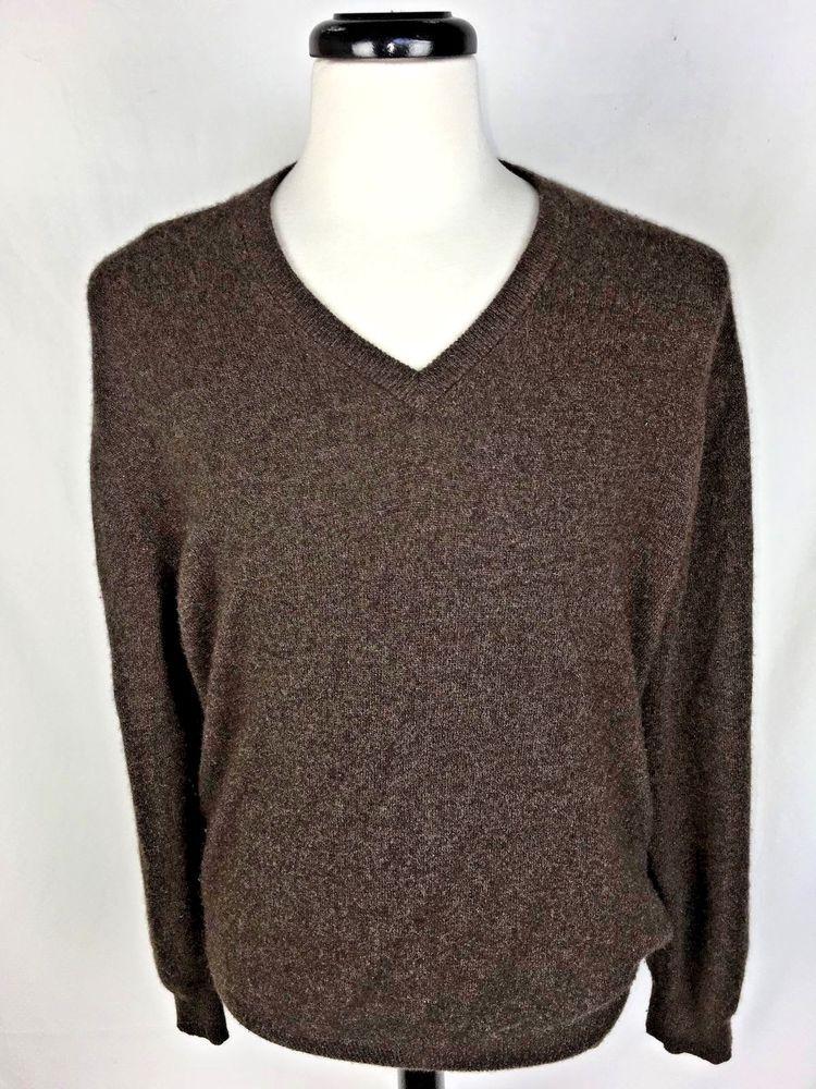 Jos A Bank Sweater Large Brown Cashmere L Autumns Upscale Resale