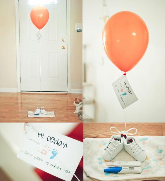 15 Ideas Bonitas Para Decirle Que Va A Ser Papá Anuncio De Sorpresa De Embarazo Anuncios De Embarazo Para El Marido Anuncio De Bebé