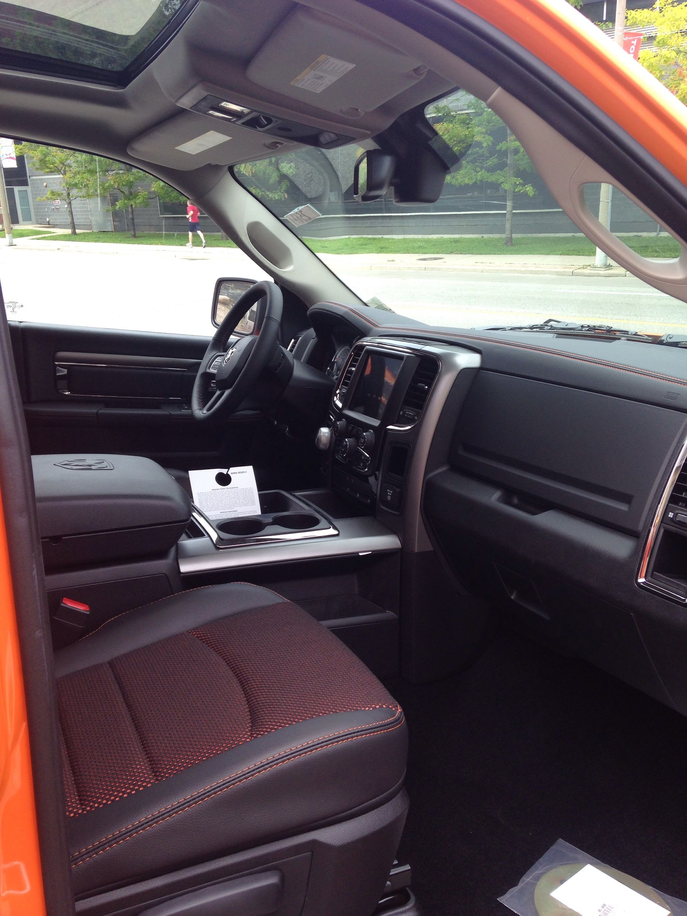 2015 Dodge Ram 1500 Ignition Orange Interior.