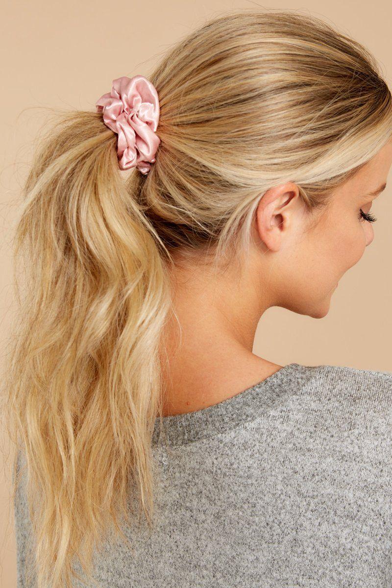 NEW PINK Victoria/'s Secret Hair Ties Hot Pink /& Light Pink 8 ties total