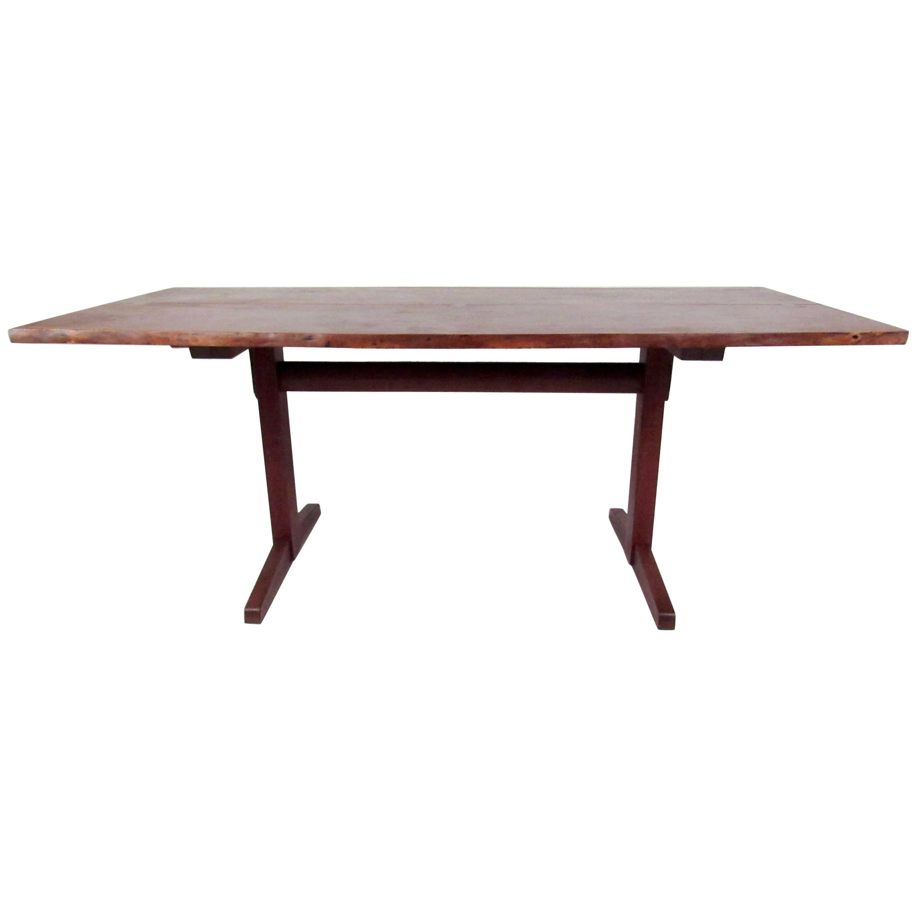 George Nakashima Dining Table With Trestle Base For Sale At