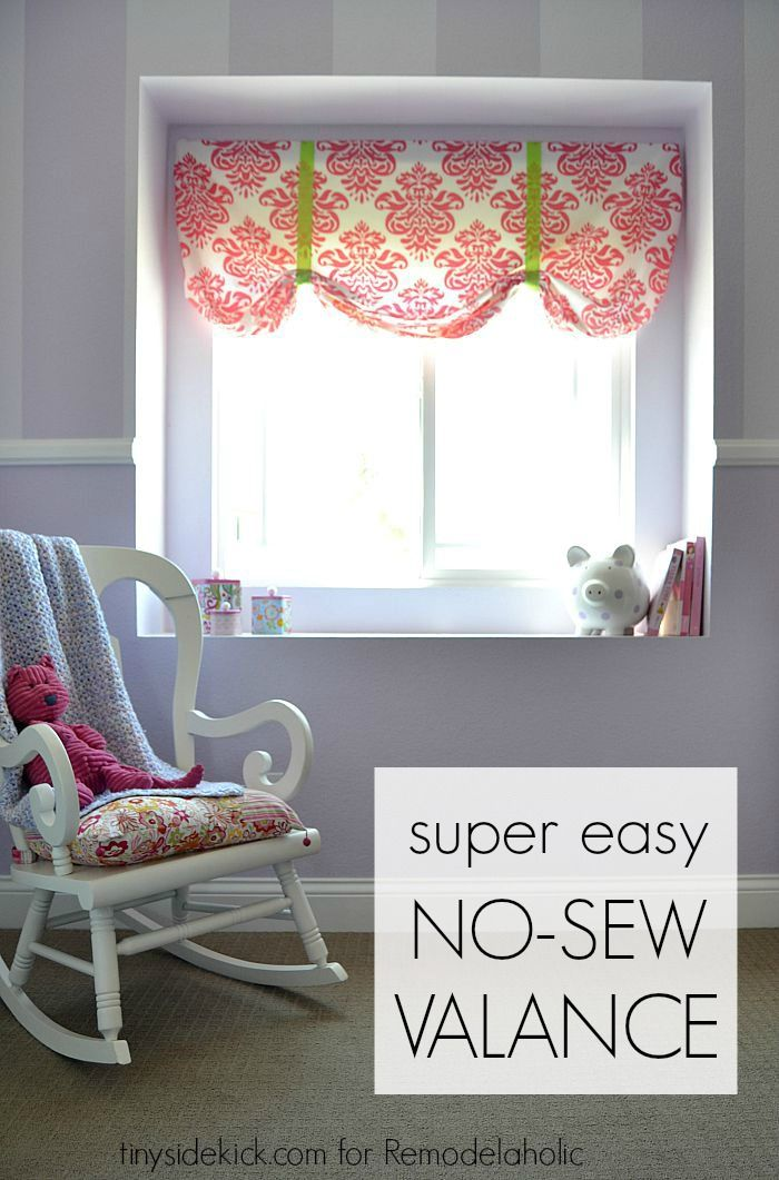 The easiest no-sew window valence ever!
