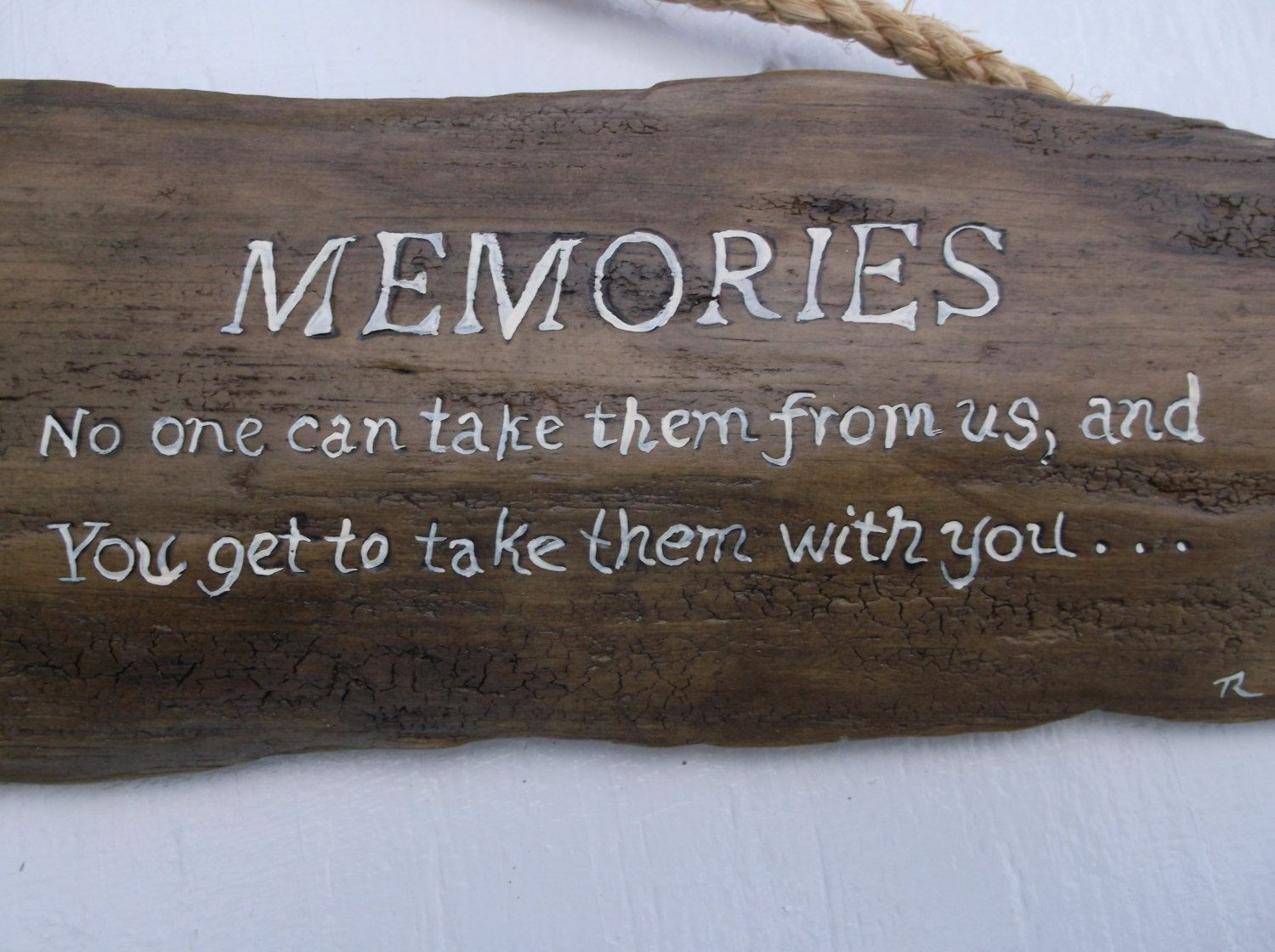 Memories on driftwood - Rustic wooden boat and flowers - Original poem and artwork by Drifted Art - Beach decor - Coastal decor, Rustic Sign…