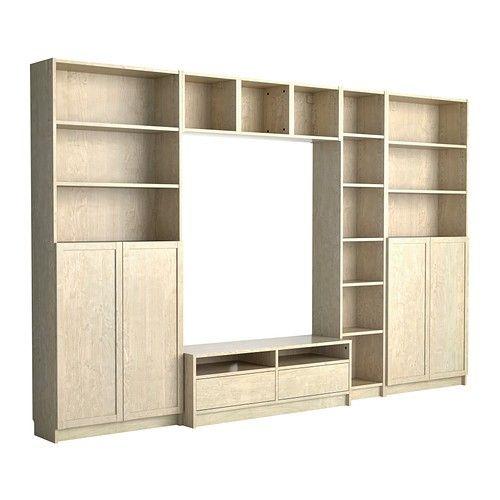 Billy Benno Combinaison Meuble Tv Plaque Bouleau Wall Storage Unit Wall Storage Tv Storage