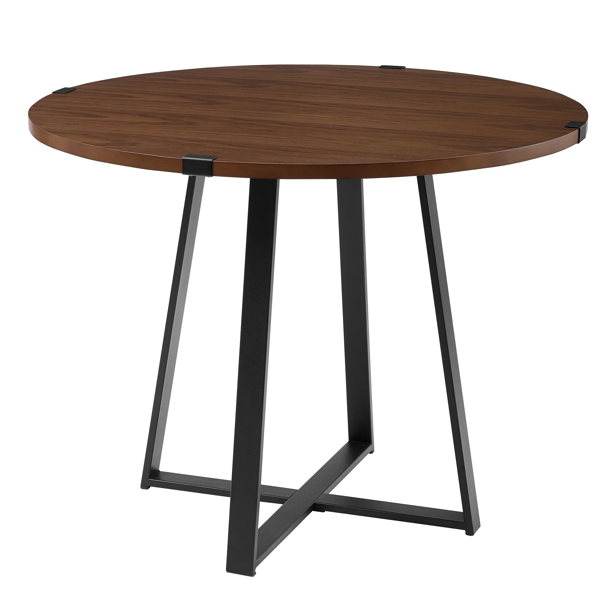 Carbon Loft Barnett 40 Inch Round Metal Wrap Dining Table Black