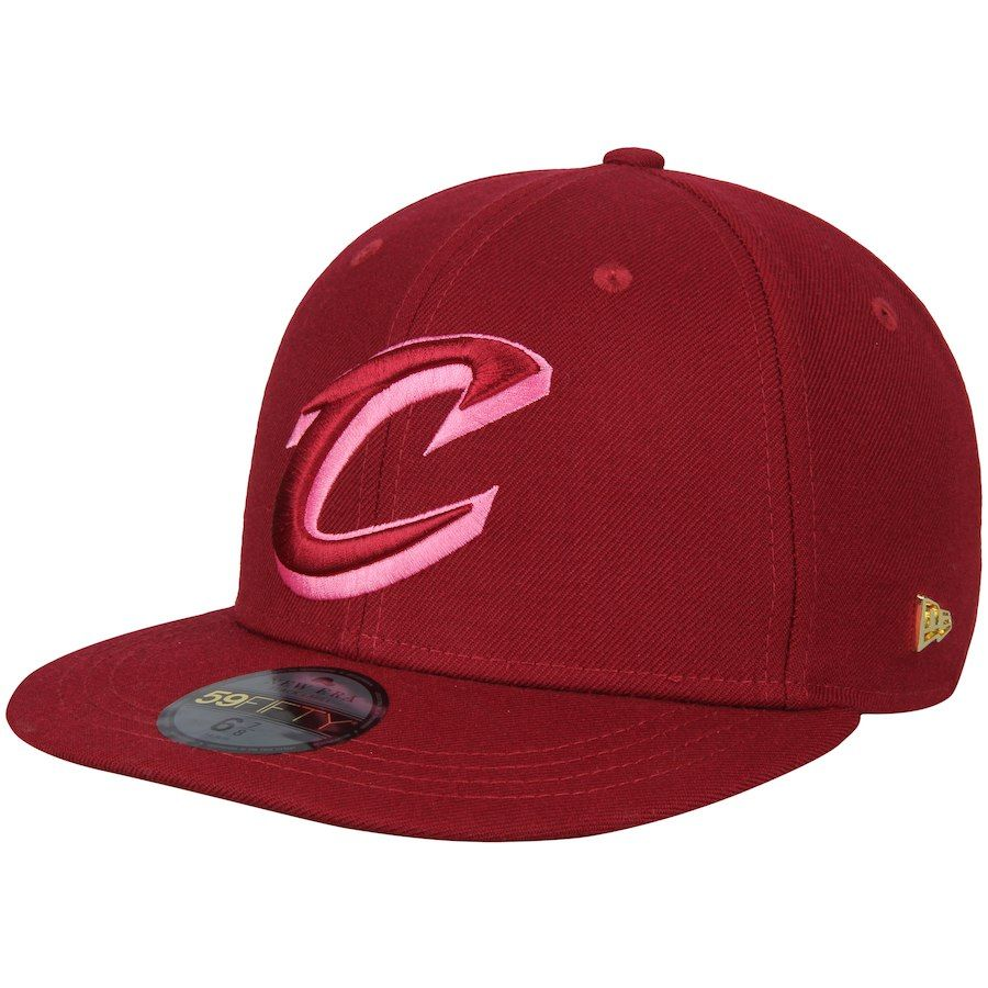 b4f3571b52e Men s Cleveland Cavaliers New Era Maroon Essential Black Label Series  59FIFTY Fitted Hat