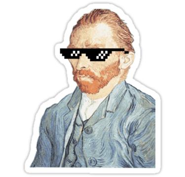 Thug Vincent Van Gogh Sticker by ClaireStag