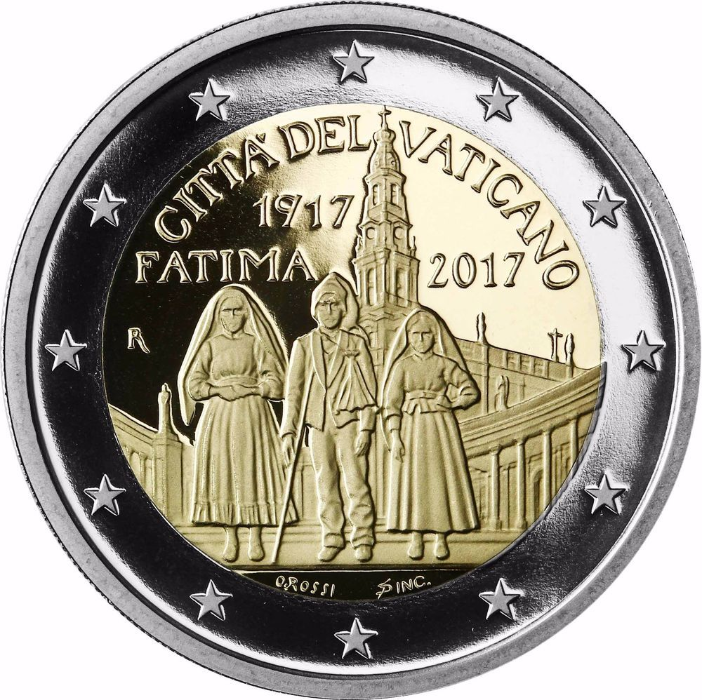 Details Zu Vatikan 2 Euro 2017 Erscheinung Von Fatima Gedenkmünze