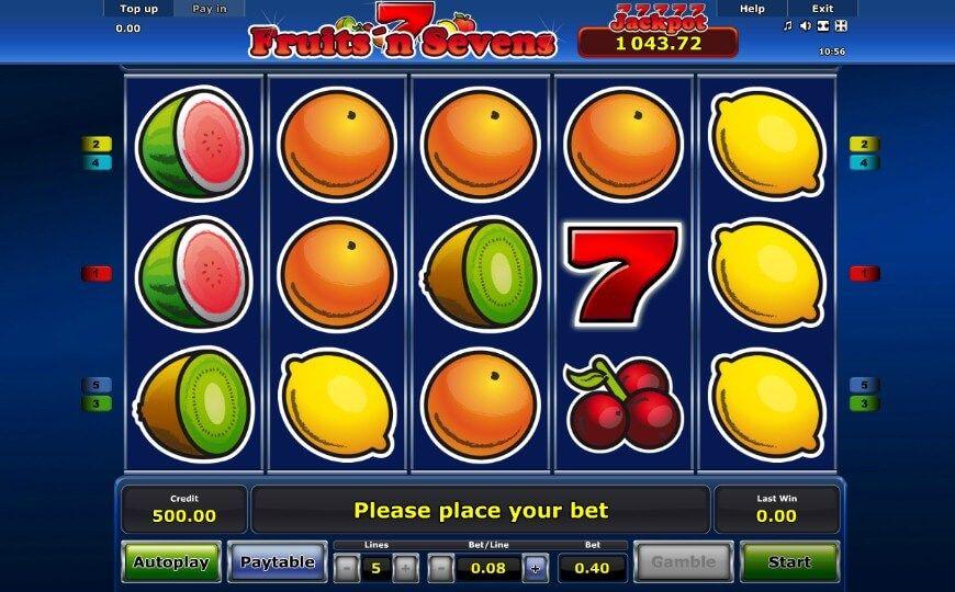 Безкоштовний ігровий автомат fruits and sevens Кириши