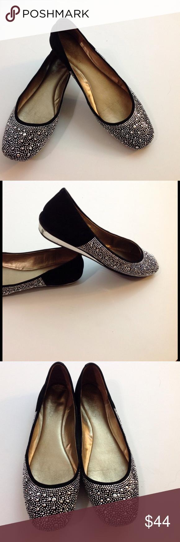 ce956f9f8c0 BCBG Paris Black w Silver Stones Flats MUST HAVE! BCBG Paris Black w Silver  Studded Ballet Flats. Round toe
